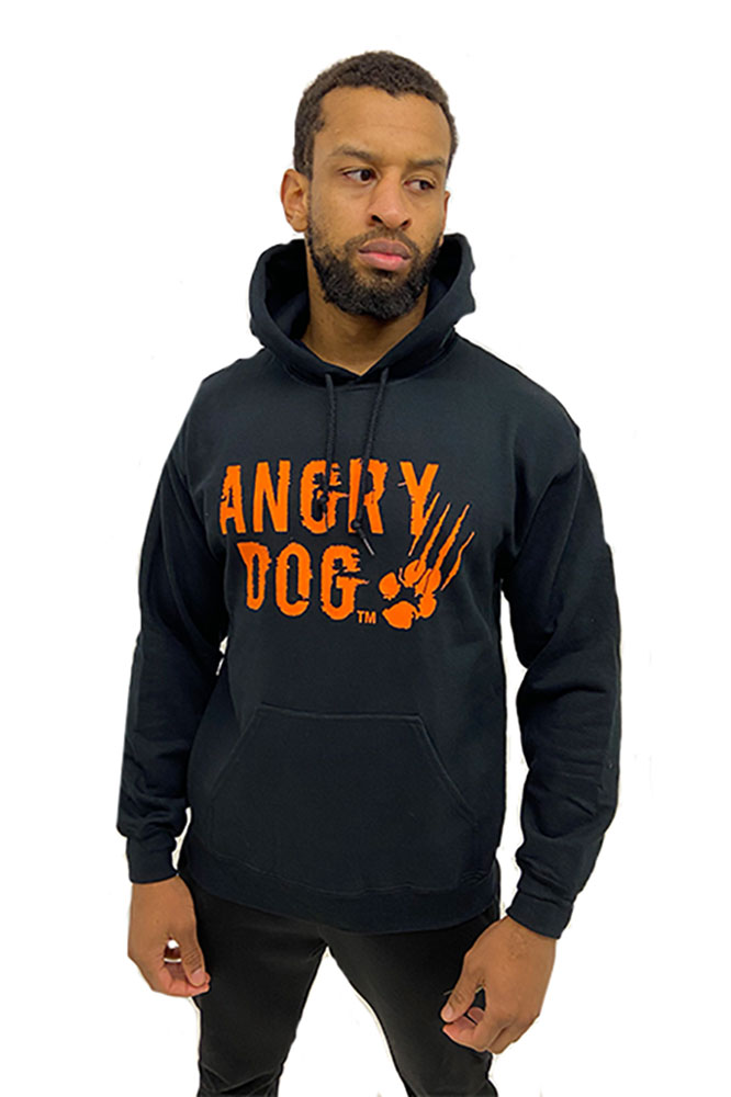 angry dog hoodie front